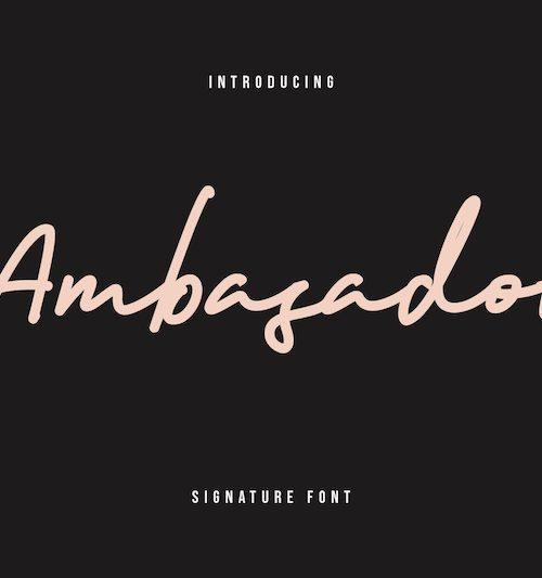 ambasador-signature-font-1