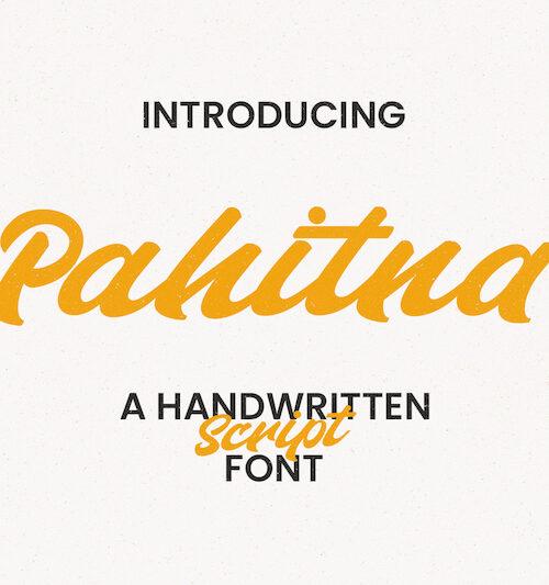 Pahitna Handwritten Script Font 1