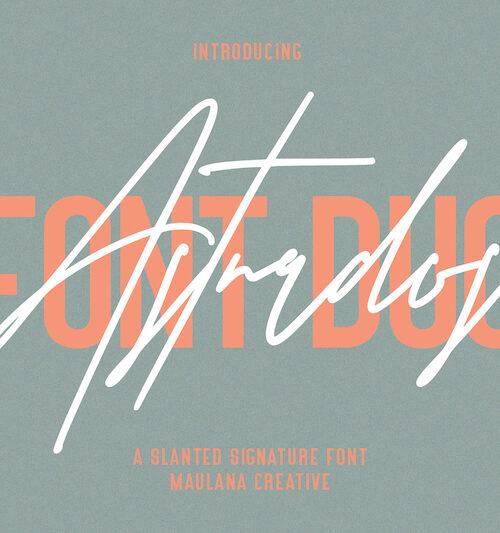 Astrados Signature Font Duo Free Sans 1