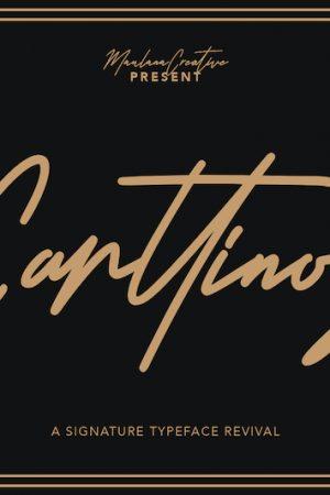 Carttinos Signature Typeface 1