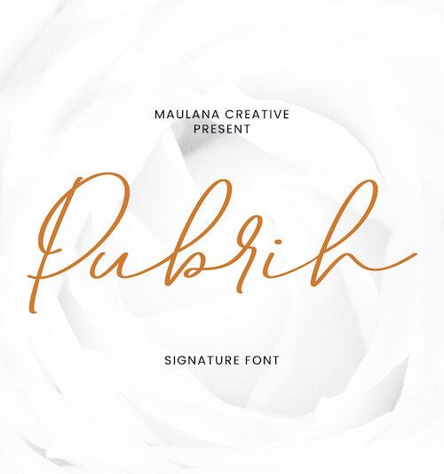 Pubrih Signature Font 1