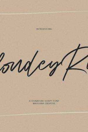 Blondey Rich Signature Script Font 1