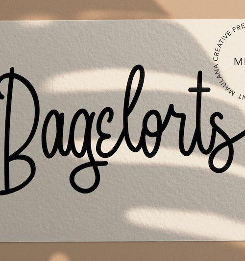 Bagelorts Handwritten Script Font 1