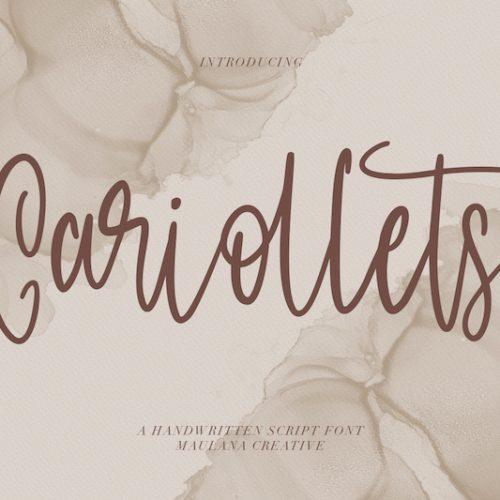 Cariollets Handwritten Script Font 1