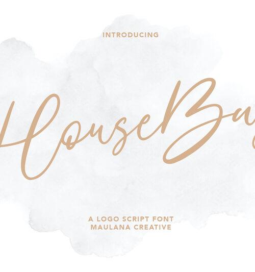 HouseBay Logo Script Font 1