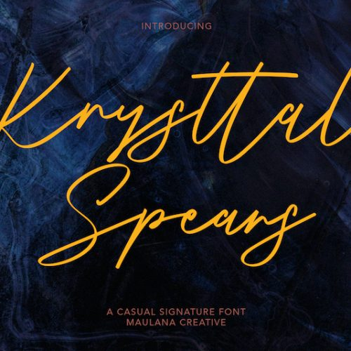 Krysttal Spears Casual Signature Font 1