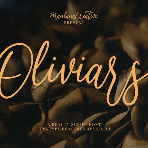 Oliviars Beauty Script Font 1