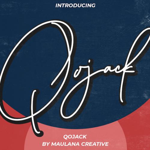 Qojack Signature Brush Font 1