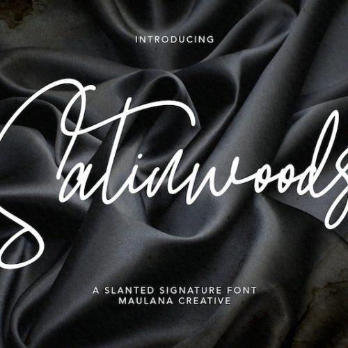 Satinwoods Slanted Signature Font 1