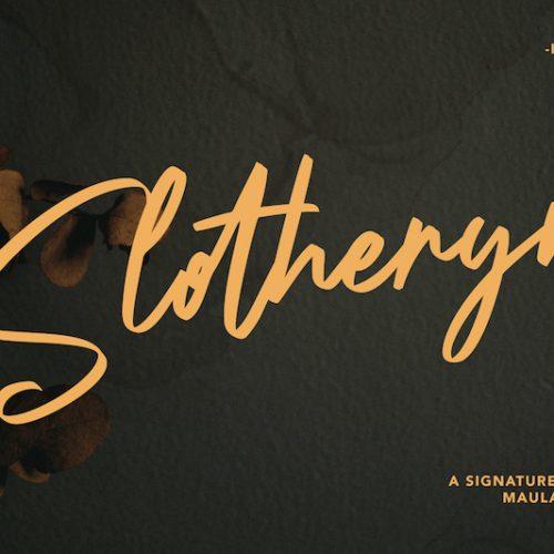Slotheryn Signature Script Font 1