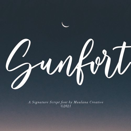 Sunfort Signature Script Font 1