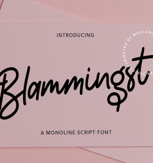 Blammingst Script Font 1