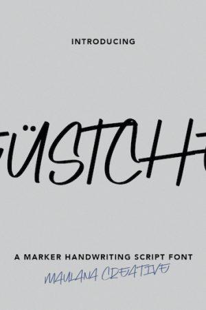 Deustchen Marker Handwriting Script Font 1
