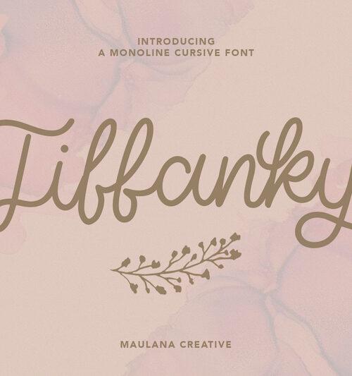 Tiffanky Monoline Cursive Font 1