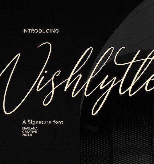 Wishlyttes Signature Font 1