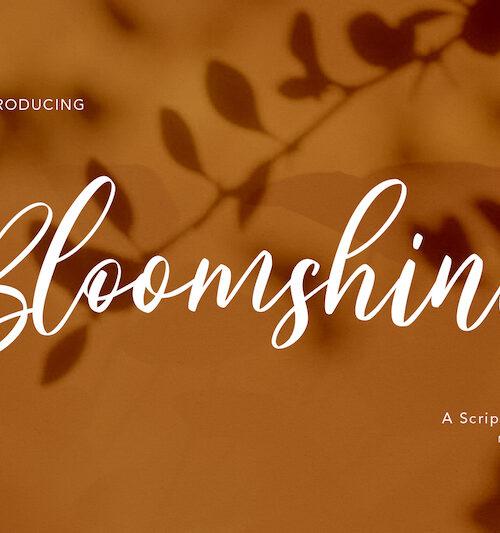 Bloomshine-script-font01
