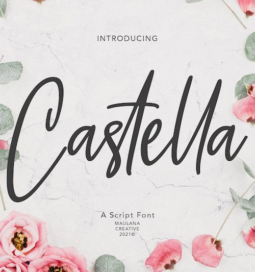 Castella Script Font 1