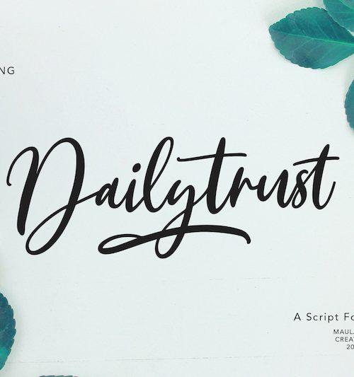 Dailytrust-script-font01