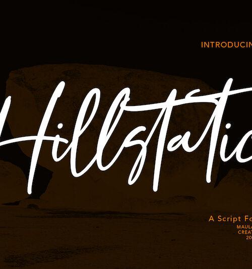 Hillstatic Script Font 1