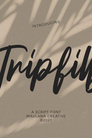 Tripfills-script-font1
