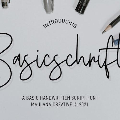 Basicschrift Monoline Script Font 1