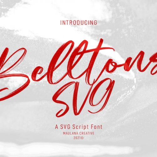 Belltons Brush Font 1