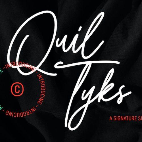 Quiltyks Script Font 1