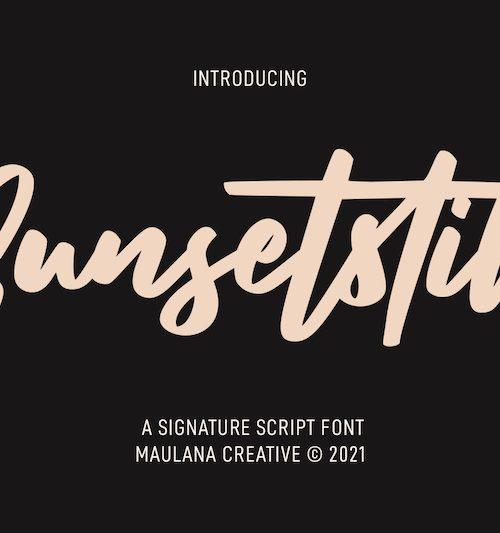 Sunsetstill Signature Script Font 1