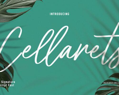 Cellarets Signature Script Font 1