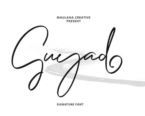 Guyad Signature Brush Font 1